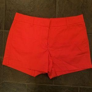 J. Crew Red 4-Inch Stretch Chino Shorts NWOT Sz 8